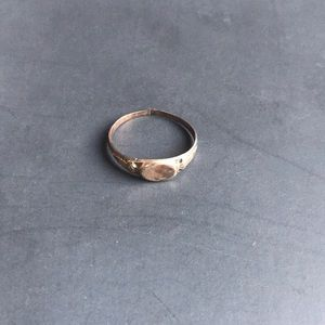 Possible vintage gold topped ring